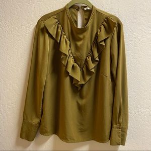 H&M ruffle frill blouse